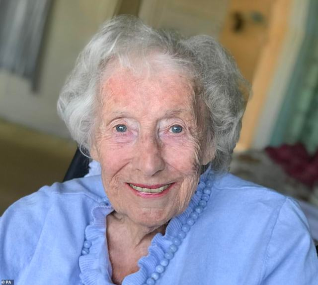 Dame Vera Lynn, pictured in her final known photograph on May 7 ahead of the 75th anniversary of VE Day, died last month