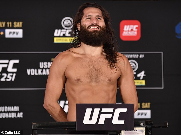 Jorge Masvidal was all smiles after making 170lb welterweight limit for his first UFC title fight