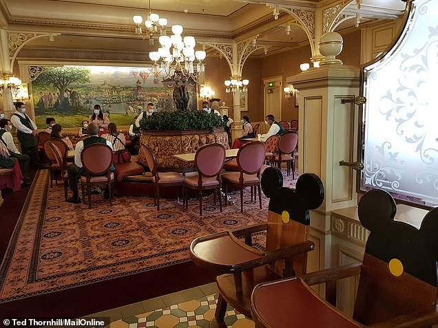 A Plaza Gardens Restaurant team meeting was taking place when MailOnline Travel dropped by