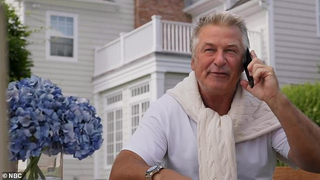 Jack attack: The teaser goes on to reveal Alec Baldwin as TV exec Jack Donaghy