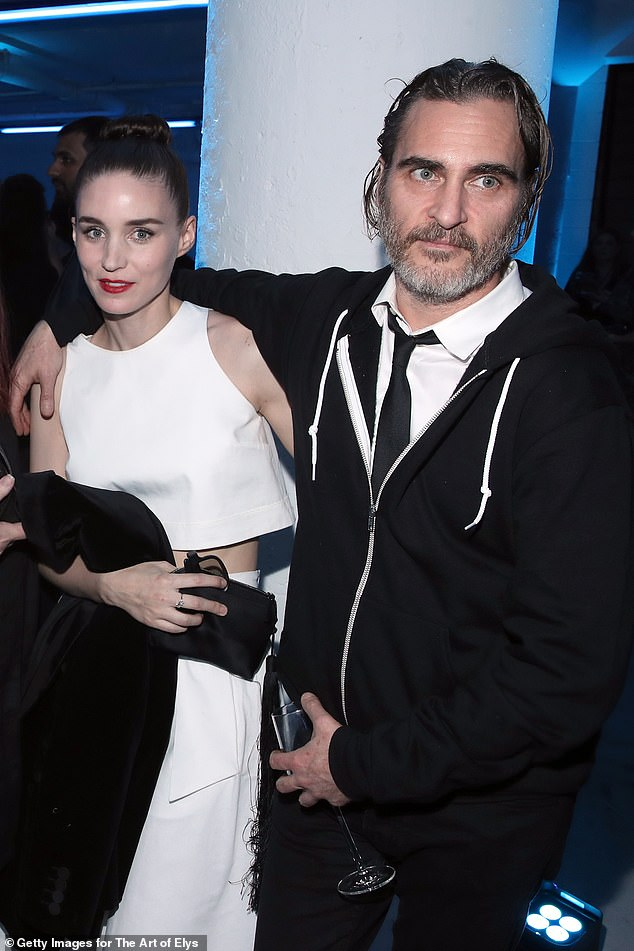 Engaged: Rooney and Joaquin began dating in 2016 and get engaged in July of 2019; the pair pictured in January