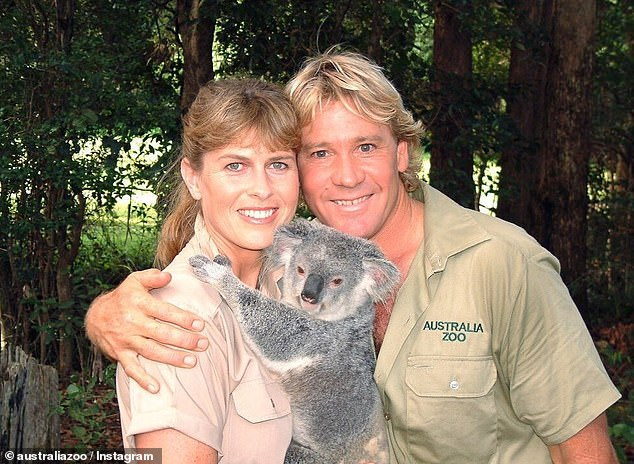 Hard times: Terri said the zoo's hardship was particularly emotional due to a promise she made to Steve, who turned his family's wildlife park to Australia Zoo in the 1990s (Terri and Steve pictured together)