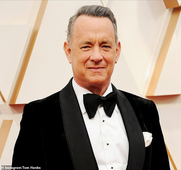 Welcome return: Tom Hanks (pictured) announced his coronavirus diagnosis while on Australia's Gold Coast filming Baz Lurhmann's Elvis Presley biopic in March. And now, the Castaway star, 64, is back in Queensland to resume filming on the hotly anticipated movie