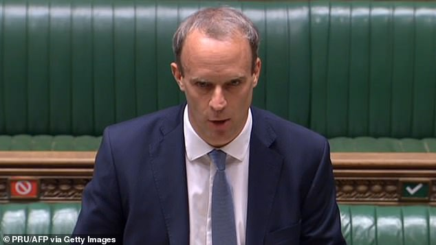 Foreign Secretary Dominic Raab announced sanctions against 49 organisations and individuals who are accused of human rights abuses on July 6