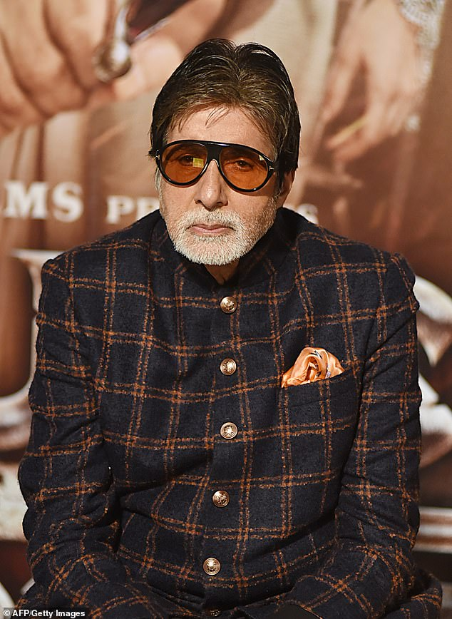 Huge influence: Amitabh has appeared in 200 films over the course of his career, which has spanned over five decades, and has earned him a number of accolades