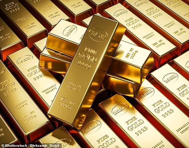 Solid investment: The gold price currently stands at just above £1,420 an ounce, 25 per cent up over the past year