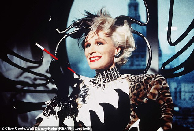 A source close to Maxwell hit back, saying: 'Ghislaine is no Cruella de Vil'. Pictured: The character played by Glenn Close in the 1996 film 101 Dalmatians