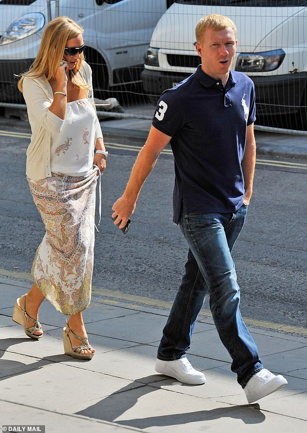 Apart: Footballer Paul Scholes' wife Claire has allegedly left their marital home amid claims their marriage is in a crisis (pictured in 2011)