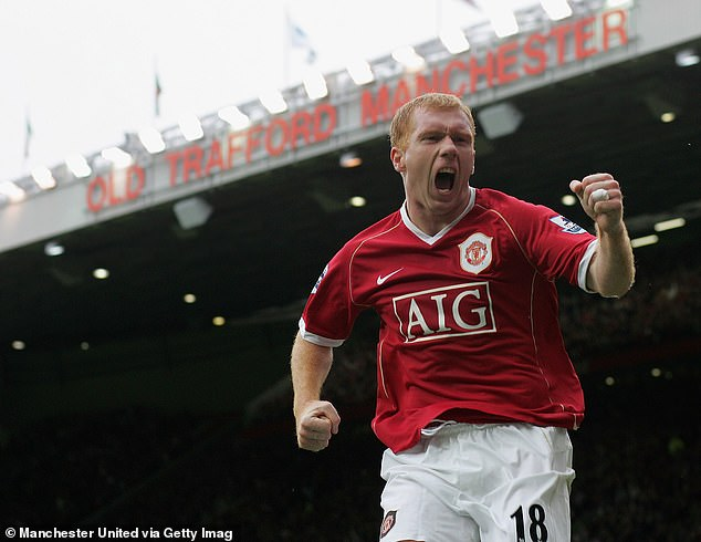 Sportsman: Paul spent his professional career playing for Manchester United, he enjoyed a successful stint, winning 11 Premiere League titles and 25 trophies in total (pictured in 2006)