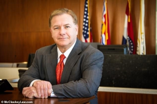 Mark McCloskey in a photo promoting his law practice in St. Louis
