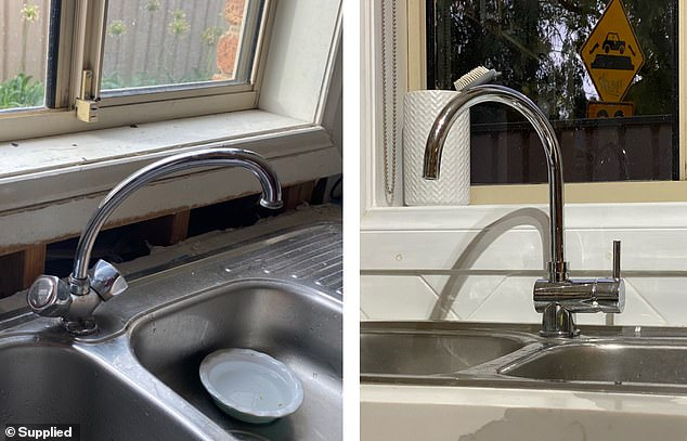 BEFORE AND AFTER: Nicole said she sourced a lot of the items from the likes of Bunnings Warehouse and second-hand on Gumtree and eBay