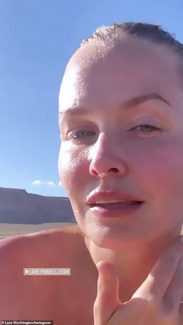 Holiday?The Los Angeles-based businesswoman also shared a video of herself kayaking on the same lake last week