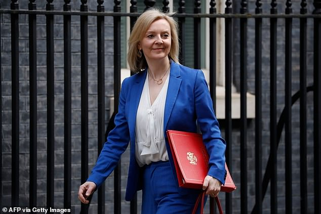 It follows a row over a leaked letter from International Trade Secretary Liz Truss, above, to Chancellor Rishi Sunak and Mr Gove last week