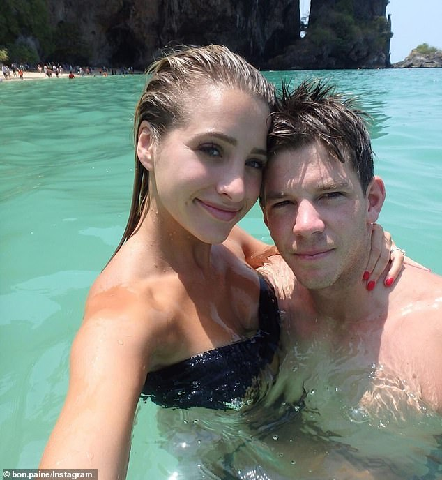 Tim Paine (pictured with wife Bonnie) has revealed the depths of his mental struggle after suffering a finger injury