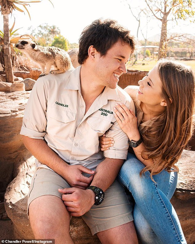 Love at first sight: Bindi met Chandler, who originally hails from Florida, in 2013 while giving him a tour of Australia Zoo