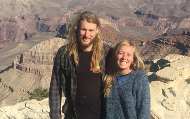 American backpacker Chynna Deese (right) and her Australian boyfriend Lucas Fowler (left), who were found dead on July 15 2019 after their van broke down on the Alaska Highway, British Columbia, Canada