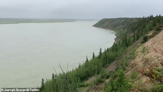 The bodies of Schmegelsky and McLeod were found less than a mile from the Nelson River (pictured) outside of Gillam