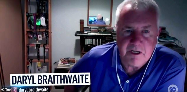 Confirmation: His classic song is often considered a substitute national anthem, but do you know the REAL name of Daryl Braithwaite's biggest hit? Pictured on The Sunday Project