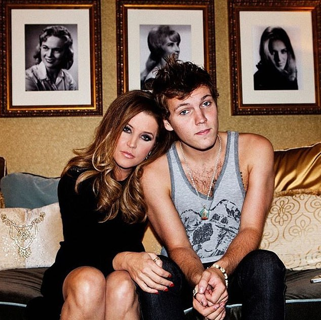 Benjamin was the son of Lisa Marie and musician Danny Keough. He is pictured with his mom