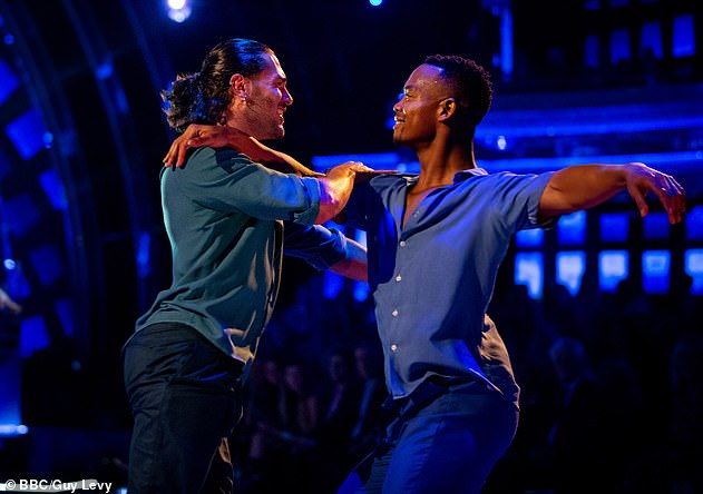 Supporting the LGBTQ + audience: Johannes danced with Graziano last year in a professional dance on the show alongside Aljaž Škorjanec and Luba Mushtuk