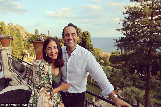 Loved up:Despite their recent hiccup, Wippa and Lisa have been happily married for almost seven years