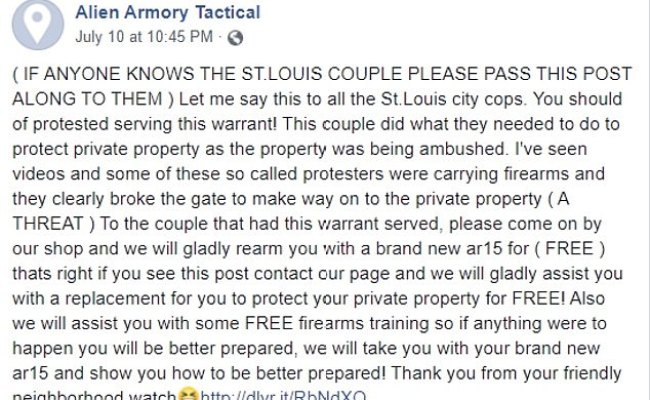 Armed St Louis Couple Receive 50 Offers To Replace The Ar