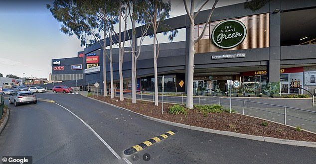 Greensborough Plaza store (photo) in north Melbourne was closed Monday night for thorough cleaning