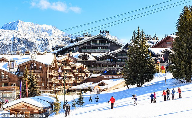 Courchevel 1850, pictured, is one of the many world-class resorts served by the ski train