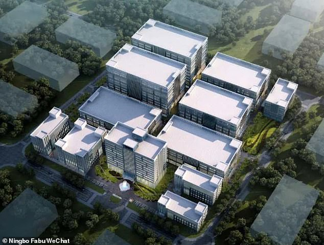 A handout from the government of Ningbo shows the design of themanufacturing base which will produce vaccines against coronavirus and rabies. The COVID-19 plant will cost£62million