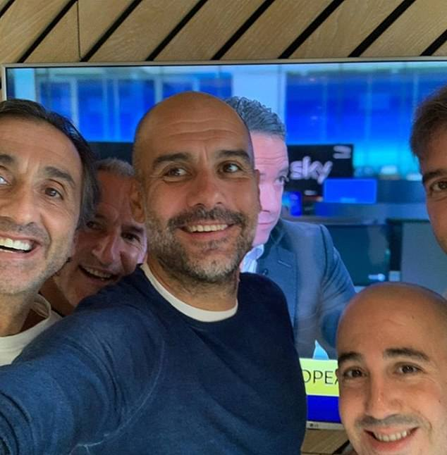Pep Guardiola and his technical team (from left to right: Manel Estiarte, Txiki Begiristain, Pep Guardiola, Omar Berrada, Ferran Soriano) were right to smile on Monday as the two-year ban on Manchester City in the Champions League was lifted at the arbitral tribunal.  for sport (CAS)