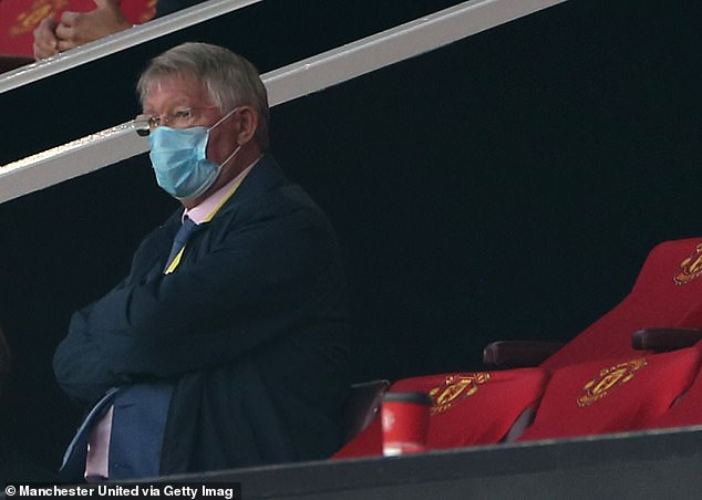 However, the former United boss was then seen wearing his mask over his nose for the rest