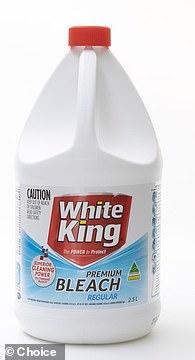 White King Premium Bleach ($4.25): 70%