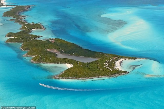 Depp's island in the Bahamas is pictured. Depp's trial heard today from the property manager at his Bahamas home, who said Heard had told Depp during a row in December 2015 that his 'career is over', he would die a lonely man' and called him 'fat'