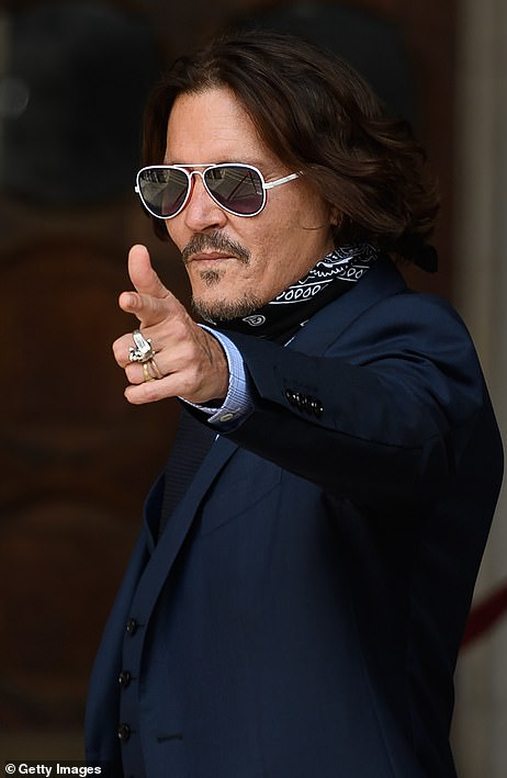 Johnny Depp arrives at the High Court today