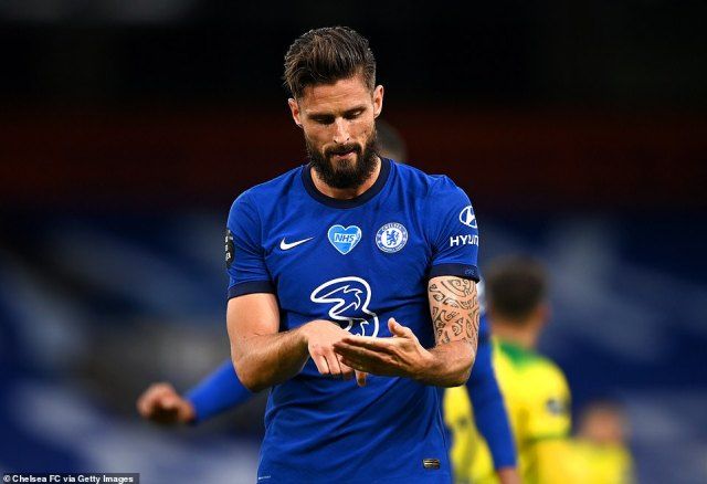 The French striker makes a gesture after netting what proved to be the only goal of the game at Stamford Bridge on Tuesday