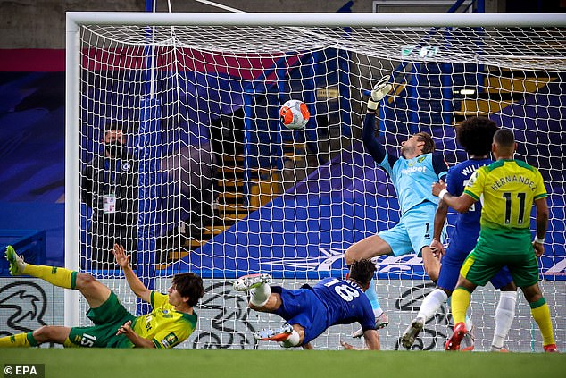 The 33-year-old French international guided a head to Tim Krul at halftime