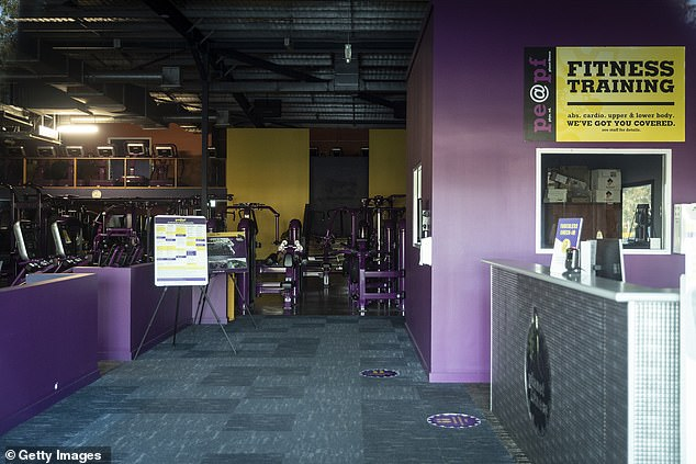 A general view of the Planet Fitness Gym in Casula, which has closed after a worker tested positive for COVID-19 on July 13