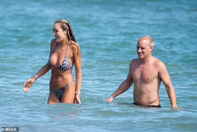 Wow!Sophie Habboo and her beau Jamie Laing appeared to be making the most of their Spanish getaway, as they soaked up the rays on the beach on Tuesday