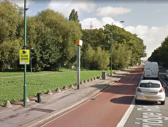 The A104 Lea Bridge Road speed camera in west London