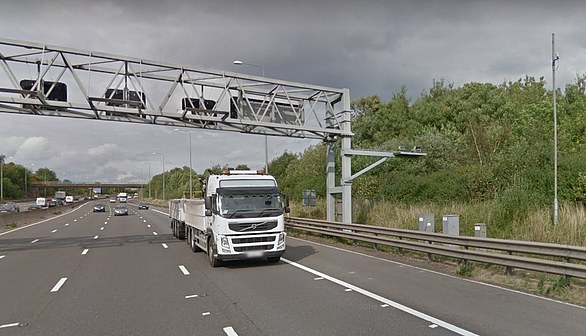 The camera on the M1 south between J26 and 25 in Nottinghamshire
