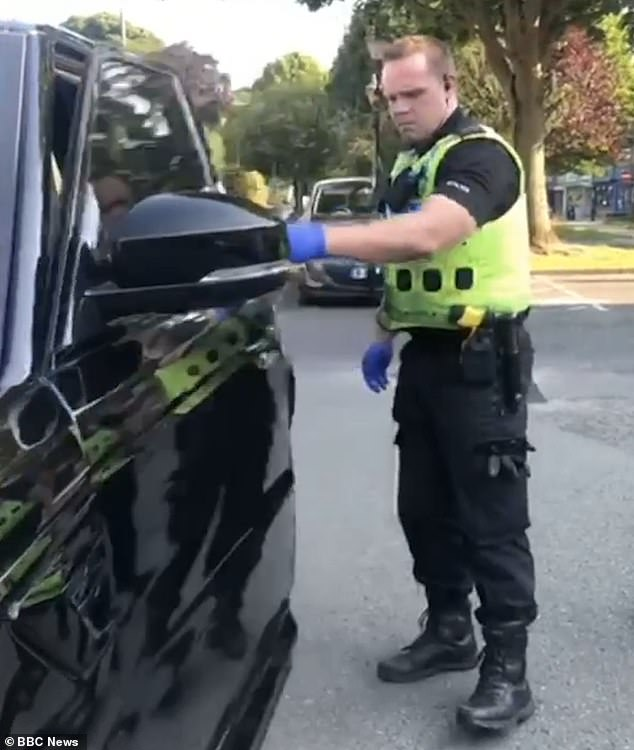 West Midlands Police claimed there was intelligence associated with the car's number plate