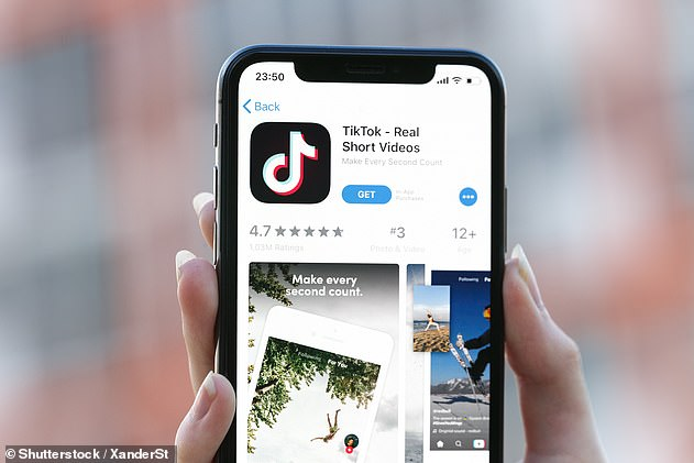 TikTok (pictured) is one of the most popular apps in the world and had 315 million downloads in the first quarter of the year