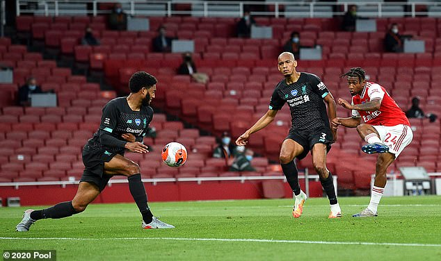 Reiss Nelson (right) scored the winner as Arsenal denied Liverpool a record total