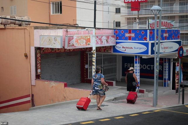 The usually bustling Magaluf strips remain eerily quiet