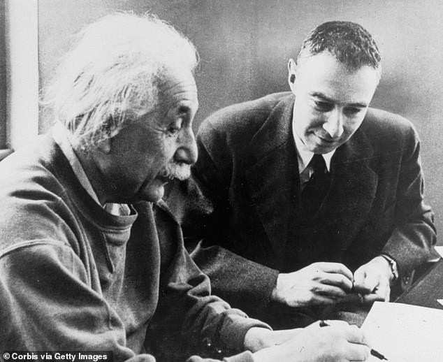 Albert Einstein influenced the beginning of the Manhattan Project. In collaboration with physicist Leo Szilard, Einstein wrote a letter to President Roosevelt in 1939, warning of possible German nuclear weapons research and proposing that the United States begin its own research into atomic energy Above, Einstein sits withJ. Robert Oppenheimer, the creator of the atomic bomb