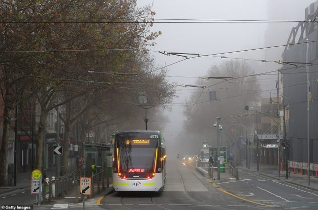 Melbourne woke up to a cold and chilly morning. The city is enduring a six-week lockdown to halt the spread of coronavirus