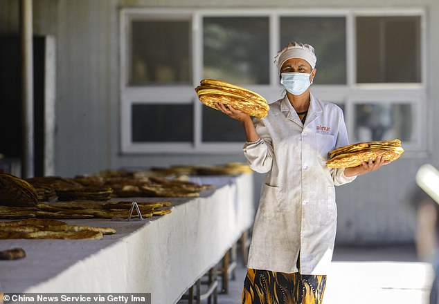 City transport officials announced yesterday that the metro will be closed in a statement, Chinese media reported.  But the post appears to have been deleted from his social media page.  The photo taken on June 17 shows a worker wearing nang, a traditional bread, in an anti-poverty workshop in Keping County, Xinjiang's Uighur Autonomous Region in western China.