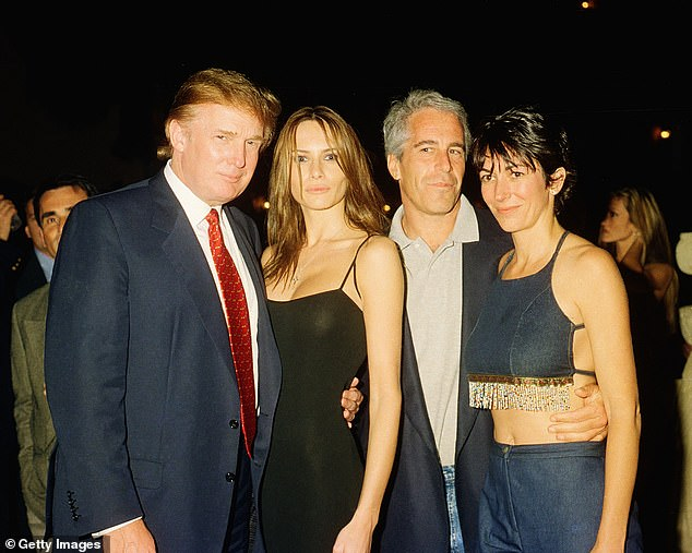 Donald Trump was among the rich and powerful people who socialized with Epstein and Maxwell. They are seen here with Trump's future wife Melania in 2000