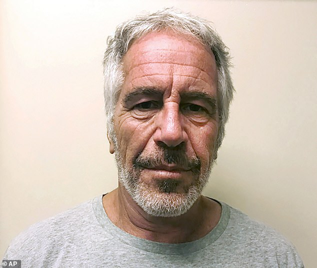 Andrew acknowledges that he visited Epstein (pictured) on the Caribbean island and is under growing pressure to give evidence to US authorities