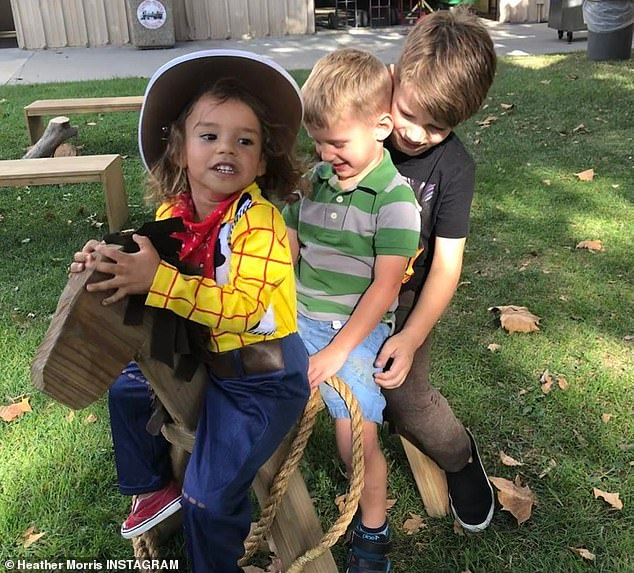 Their babies: Earlier this week, Heather released an Instagram album showing her two sons Elijah, six, and Owen, four with Naya's beloved, Josey, four.